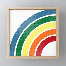 Retro stripes Framed Mini Art Print