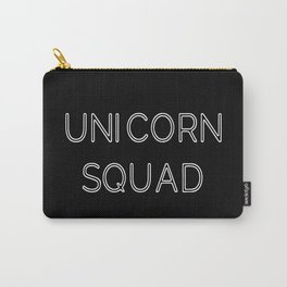 Unicorn Squad - Black and White Carry-All Pouch