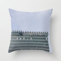 building Throw Pillows featuring Building by RMK Photography