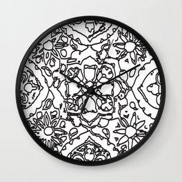 Isola Signature Print Monocrome  Wall Clock