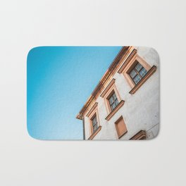 Old House and Bright Blue Sky Bath Mat