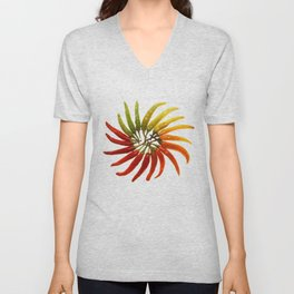 Charleston Hot Peppers Color Wheel Unisex V-Neck