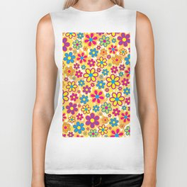 Bright Flowers Biker Tank