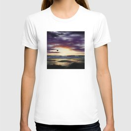 Airship Over the Pacific at Sunset T-shirt