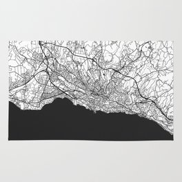 Lausanne Map Gray Rug
