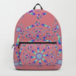 Rainbow Sea Glass Collage Pattern Backpack