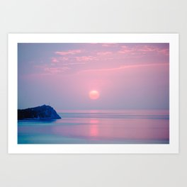 Calm sunrise Art Print