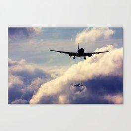 Wake turbulence Canvas Print