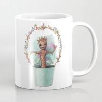 groot Mugs featuring Baby Groot by Pendientera