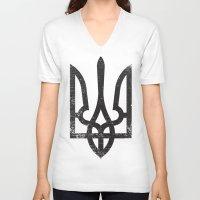 ukraine V-neck T-shirts featuring Ukraine by Sitchko Igor