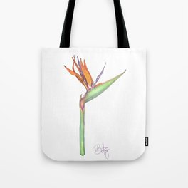 Birds of Paradise flower, Strelitzia Reginea. Tote Bag