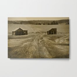 Old Farm Houses of Wyoming Metal Print