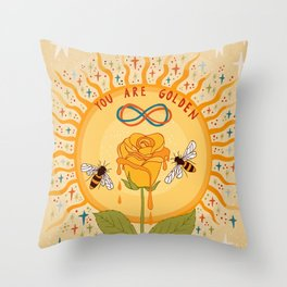 You are golden Throw Pillow