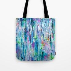 Silver Rain Tote Bag