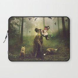 Foxes and crows Laptop Sleeve