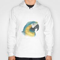 parrot Hoodies featuring Parrot by Marta Bocos