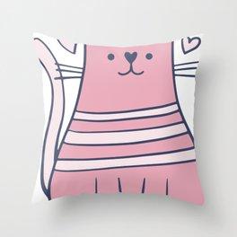 Cartoon Cute Cat Throw Pillow