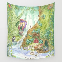 The Wind in the Willows Wall Tapestry