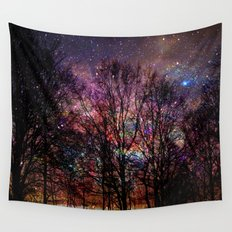 Life in the forest Wall Tapestry