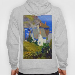 Edward Hopper Monhegan Houses Hoody
