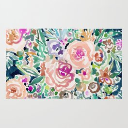 SO RICH Dark Boho Floral Rug