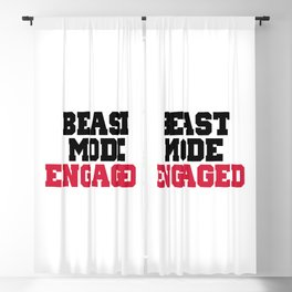 Beast Mode Engaged Gym Quote Blackout Curtain