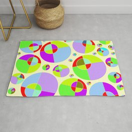 Bubble yellow & purple 10 Rug