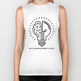 Make America Smart Again Science Brain Biker Tank