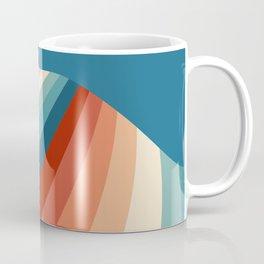 Retro style waves design Coffee Mug