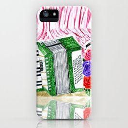 Accordion with roses iPhone Case