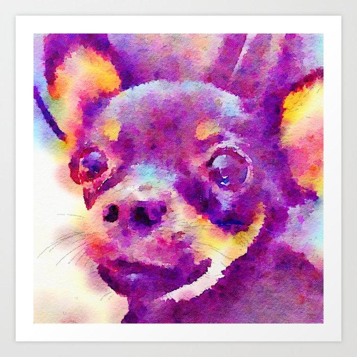 Lizzy (Chihuahua) Art Print
