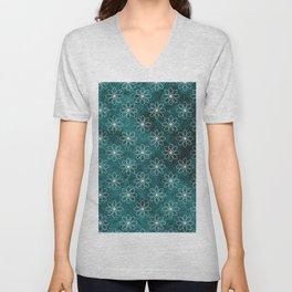 Elliptical Grunge Pattern Unisex V-Neck