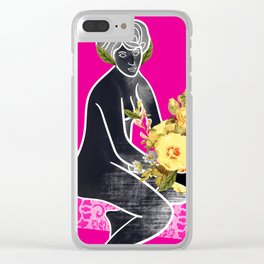 Goddess Pink Clear iPhone Case