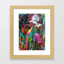 Peace, Love, Understanding Framed Art Print