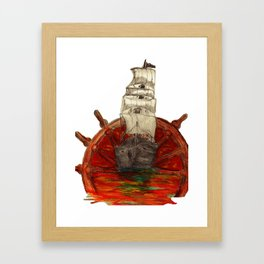 Steering into a new setting Framed Art Print