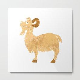 funny Goat cartoon. Metal Print
