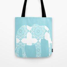 Animals Illustration - Damask Elephant Tote Bag