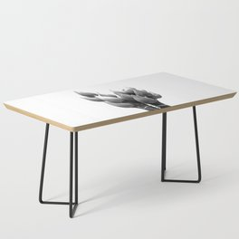 Black and White Lotus Buds Coffee Table