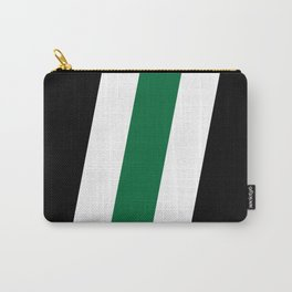 Green Stripe Black #style #minimal #design #kirovair #buyart #decor #home Carry-All Pouch