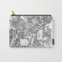 Kuala Lumpur White Map Carry-All Pouch