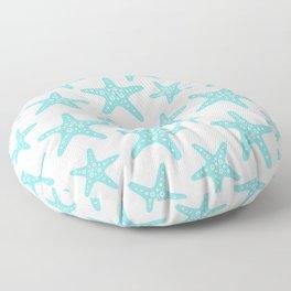 Sweet Starfish Pattern 235 Aqua Floor Pillow