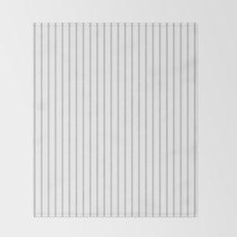 Dove Grey Pin Stripes on White Throw Blanket