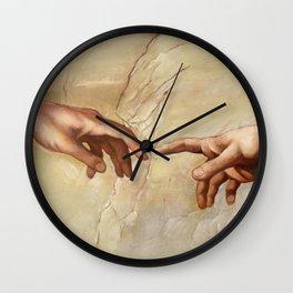 "Michelangelo ""Creation of Adam""(detail) Wall Clock"