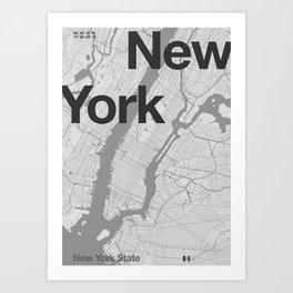 New York - Minimal Map Art Print