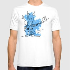 BLUE DEVIL Mens Fitted Tee SMALL White