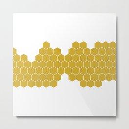 Honeycomb White Metal Print