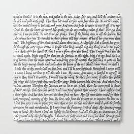 Love Letter Shakespeare Romeo & Juliet Pattern Metal Print