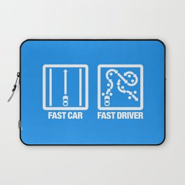 Fast Car - Fast Driver v4 HQvector Laptop Sleeve