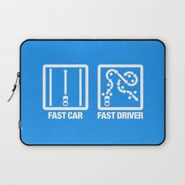 Fast Car - Fast Driver v4 HQvector Laptop Sleeve