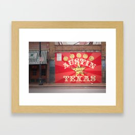 Live Music Capital of the World Framed Art Print